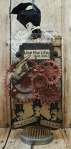 A Mermaid's Crafts: Tim Holtz Inspired Steampunk Tag!! ~ indymermaid.blogspot.com