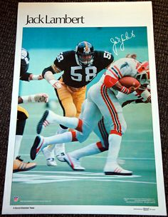 JACK LAMBERT 1978 Pittsburgh STEELERS Marketcom Sports Illustrated NFL Poster - Sold for $49.99 Dec 2013