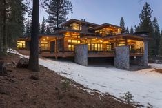 Mountain Concepts - Design Build in Lake Tahoe, Truckee and Reno Mountain Modern, Mountain Homes, Luxury Homes Dream Houses, Dream Homes, Architecture Design, Craftsman Farmhouse, Log Cabin Homes, Construction, Modern House Design