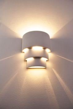 Flurlampe Design Leuchte weiß Wandlampe Wandleuchte Lampe Wandstrahler Leuchten | eBay