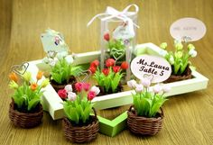 Create a spring garden for seating guests