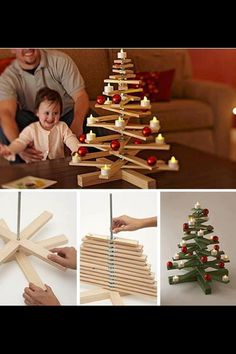 Christmas is always awaited everyone, not least kids. What is amazing from Christmas? A Christmas tree seems to be a Christmas decoration that must exist in every home Wooden Christmas Trees, Noel Christmas, Winter Christmas, Christmas Ornaments, Xmas Tree, Wooden Tree, Chrismas Tree Diy, Natural Christmas, Thanksgiving Holiday