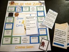 I use this all year, and it's great for test prep! Commas task cards and board game...other games in store too for centers! $