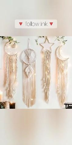 Macrame Wall Hanging Patterns, Yarn Wall Hanging, Macrame Patterns, Wall Hangings, Macrame Plant Hangers, Macrame Design, Macrame Projects, Macrame Tutorial, Boho Diy