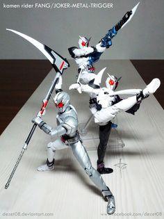 Fang Variant by on DeviantArt Kamen Rider Wiki, Kamen Rider Series, Cosmic Art, Armor Concept, Manga Artist, Marvel Entertainment, Nerd, Cyber, Action Figures