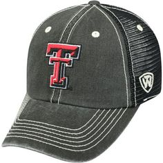 Top of the World Men's Texas Tech University Crossroads 1 Cap (Black, Size One Size) - NCAA Licensed Product, NCAA Men's Caps at Academy Sports