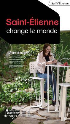 Mobilier en tôle emboutie, savoir-faire stéphanois, par Métal Design concept et dessinée par BP Design.