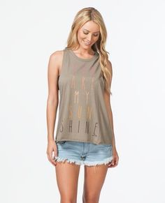 SUNSHINE MUSCLE TEE