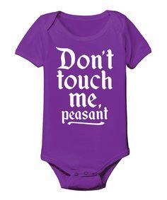 Love this Purple 'Peasant' Bodysuit - Infant by KidTeeZ on #zulily! #zulilyfinds