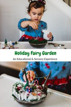 Educational and Sensory Experience When Creating This Holiday Fairy Garden Activities When Kids Are On Holiday Break Fun Things To Do With Kids On Winter Break Fairy Gardens How To Create At Home Fairy Gardens Preschool Activities Kindergarten Activities Best Educational Toys, Educational Activities For Kids, Sensory Activities, Christmas Activities, Kindergarten Activities, Learning Activities, Preschool Activities, Winter Activities, Sensory Play