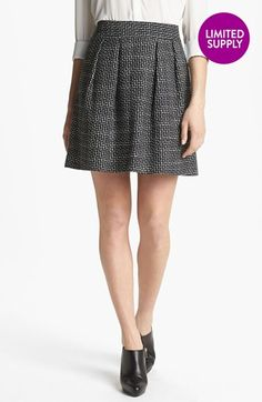 Halogen Pleated A-Line Skirt