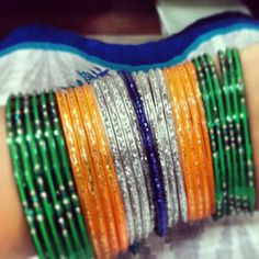 Colors of the Indian flag ♡