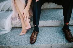 Nashville Elopement. Blush Wedding Dress. Elopement Photographers. Nashville Wedding Photographers. Louboutin Heels.