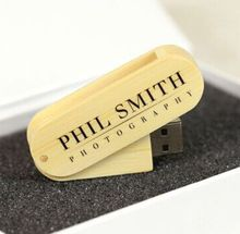 Swivel Bamboo Material USB flash drive 4GB 8GB 16GB Pendrive with Customized logo silk printing for promotional Gifts