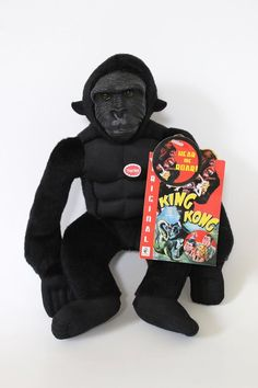 King Kong Squeezer Plush Stuffed Toy W/ Sound Beverly Hills Teddy Bear Company…