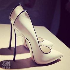 101 Gorgeous Shoes From Pinterest - Heart Over Heels #fashion #inspiration Black And White Heels, Dress Hats, Stiletto Heels, Christian Louboutin, Cry, Pointed Heels, Spiked Heels, High Heels, Spike Heels