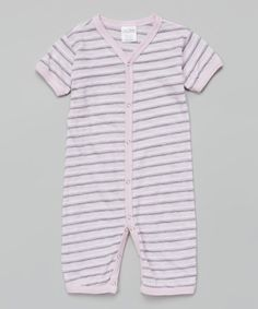 Another great find on #zulily! Dusty Pink & Gray Stripe Playsuit #zulilyfinds