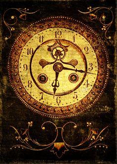 Free Digital Collage Sheet - Vintage Clocks ATC Cards | Call Me Victorian