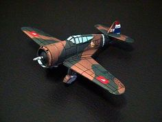 Curtiss Hawk Model 75N Fighter Free Aircraft Paper Model Download