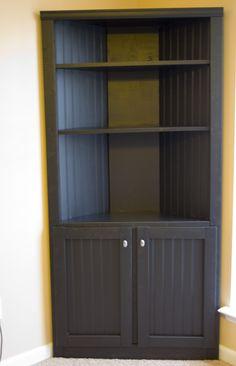 cute built in corner cabinets | Corner Storage Cabinet Shelf