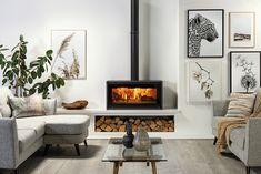 Poêle à bois Studio™ 2 Freestanding - Stovax & Gazco Home Fireplace, Home Living Room, Living Room Decor Fireplace, Freestanding Stove, Wood Burning Stoves Living Room, Standing Fireplace, Living Room With Fireplace, Living Room Tv Unit, Living Room Inspo