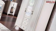 Dormitor alb tineret / copii stil clasic de lux Gold Model Deosebit Dresser, Interior, Furniture, Design, Home Decor, Cots, Simple Lines, Powder Room, Decoration Home