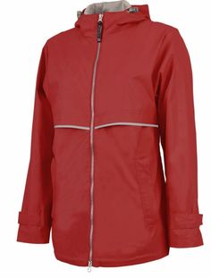 Raincoat Rain Jacket with Monogram - Red - Sew Cute By Katie Embroidered Gifts, Embroidered Jacket, Lightweight Rain Jacket, Corporate Outfits, Rain Jacket Women, Clothing Company, Monogram, T Shirts For Women, Stylish