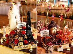 travel themed centerpieces