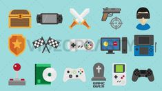 Video Games Icons Pack [MOV & GIF] Animated Icons, Animated Gif, Icon Gif, T Games, Computer Internet, Game Icon, Game Controller, Nintendo Ds, Icon Pack