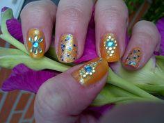 Indian Summer Nail Art design