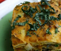Kale and Sausage Lasagna with a Creamy Butternut Squash Sauce. http://stalkerville.net/ #paleo #grainfree