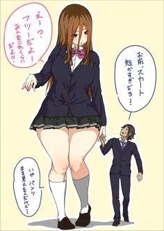 Anime Girl Hot, Manga Anime Girl, Kawaii Anime Girl, Anime Henti, Anime Furry, Tall Girl Short Guy, Toriel Undertale, Ichigo Y Rukia, Girl Anatomy