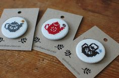 cute badges from quiet hare on etsy