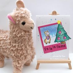 InvisiblePinkCards: Handmade Christmas card using Lawn Fawn stamps and dies with Distress Oxides