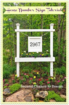 DIY House Number Sign Tutorial