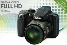 Câmera Nikon Coolpix P510 com 16,1 Mpx, a partir de R$1199.90
