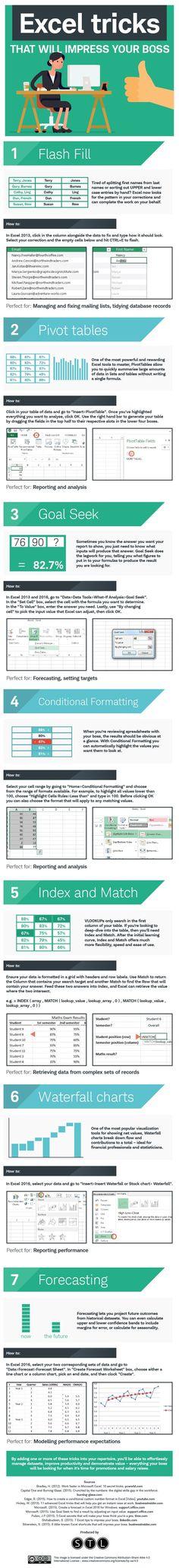 7 Handy Excel Tricks That'll Impress Your Boss [Infographic] — Medium