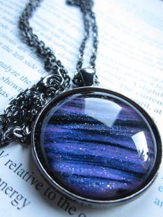 Nebula  Circle Necklace  Science Jewelry  by DarkMatterJewelry, $21.00