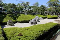 Stone garden in Komyoji-temple