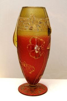 Daum Nancy, Glass Vase For Sale   Antiques.com   Classifieds
