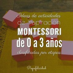 Montessori 0 a 3 Montessori Education, Montessori Baby, Maria Montessori, Montessori Materials, Montessori Activities, Infant Activities, Kids Education, Preschool Activities, Diy Bebe