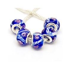 '20pc.Lampwork Deep Blue Glass European Beads' is going up for auction at  7pm Tue, Nov 20 with a starting bid of $5.