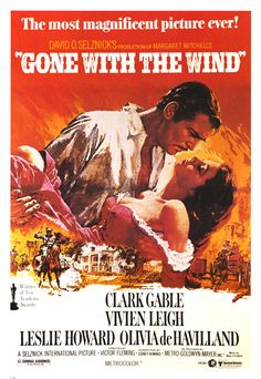 Gone With The Wind. One of the most iconic Southern films of all time. Plus one of my FAVORITES!!!!!