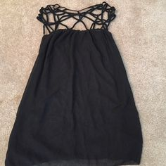 Boutique black dress Can be worn as a dress or also paired with leggings. BNWT. Fits more like a small to medium. Dresses