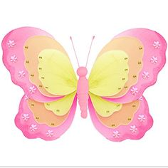 Butterfly Mobile Dark Pink Fuchsia Multi-Layered Spiral Nylon Mesh Butterflies Mobiles Decorations Decorate Baby Nursery Bedroom Girls Room Ceiling Decor Party Baby Shower Baby Crib Hanging Mobile 3D