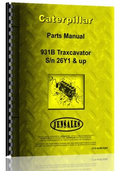caterpillar 931 traxcavator parts manual products caterpillar 931b traxcavator parts manual