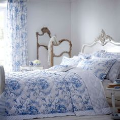 Blue Toile Bedding Sets - Home Furniture Design Blue Bedroom, Bedroom Sets, Bedroom Decor, Bedrooms, Dream Bedroom, Master Bedroom, Ikea, Toile Bedding, Blue Bedding Sets