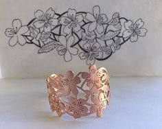 Jewelry OFF! Black Gold Jewelry For Beautiful Pieces 2019 from doodle to completion. copper flora and fauna cuff for (who happens to have an oh so tiny wrist). thank you for letting me play! Jewelry Crafts, Jewelry Art, Handmade Jewelry, Jewelry Design, Unique Jewelry, Bridal Jewelry, Jewelry Bracelets, Black Gold Jewelry, Copper Jewelry