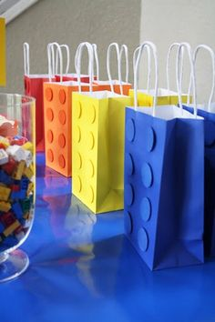 brides of adelaide magazine - primary colours - wedding favours - lego bags