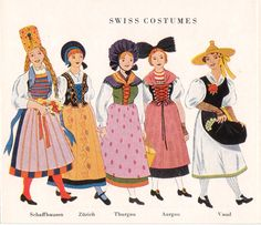 Swiss Costumes Swiss Chalet, Swiss Alps, Folklore, Costumes Around The World, Thinking Day, Folk Costume, Traditional Dresses, Special Occasion Dresses, Swiss People
